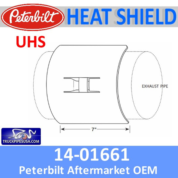 14-01661 Universal Heat Shield with Bracket Individually Boxed