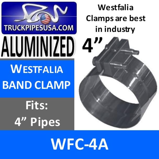 "4"" Westfalia Exhaust Band Clamp ALUMINIZED WFC-4A"