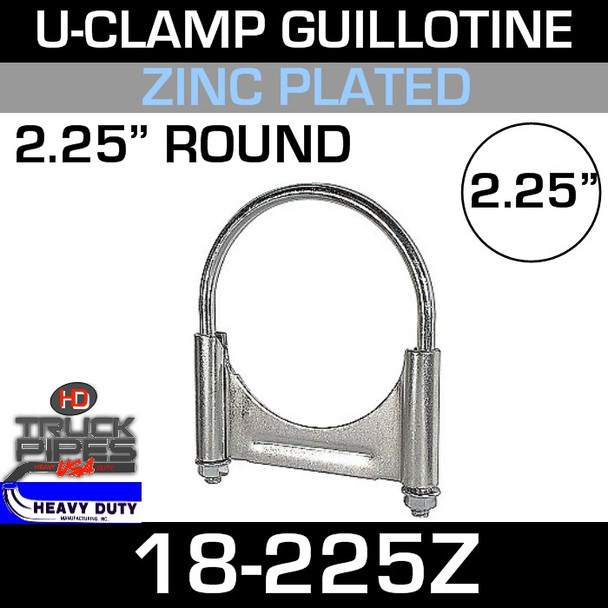 "2.25"" U-Clamp Guillotine Style Zinc"