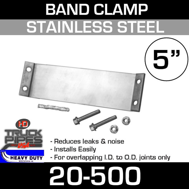 "5"" Easy Seal Stainless Steel Band Clamp TFC500"