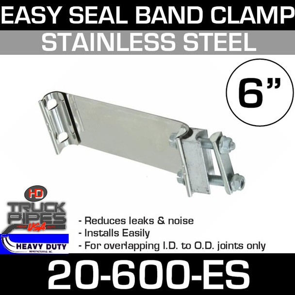 "6"" Easy Seal Stainless Steel Band Clamp TEC600"