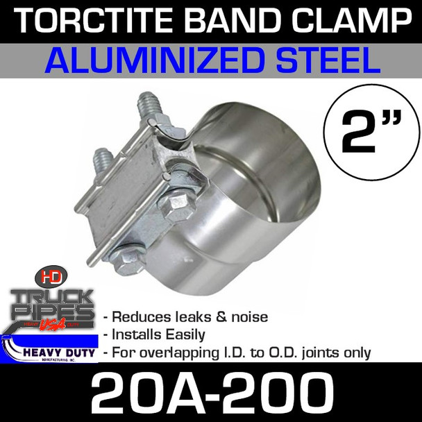"""2"""" Band Clamp - Aluminized Preformed TorcTite 20A-200"""