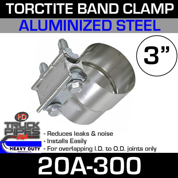 """3"""" Band Clamp - Aluminized Preformed TorcTite 20A-300"""