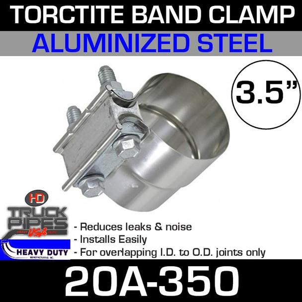"3.5"" Band Clamp - Aluminized Preformed TorcTite"