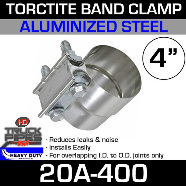 """4"""" Band Clamp - Aluminized Preformed TorcTite 20A-400"""