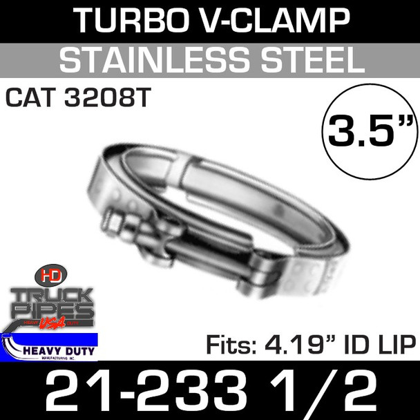 """Turbo V-Clamp for CAT 3208T with 4.19"""" ID"""