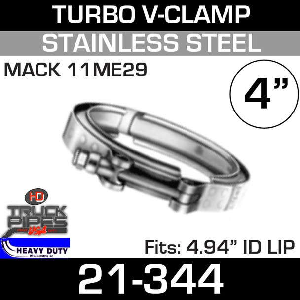 """Turbo V-Clamp for Mack 11ME29 with 4.94"""" ID"""