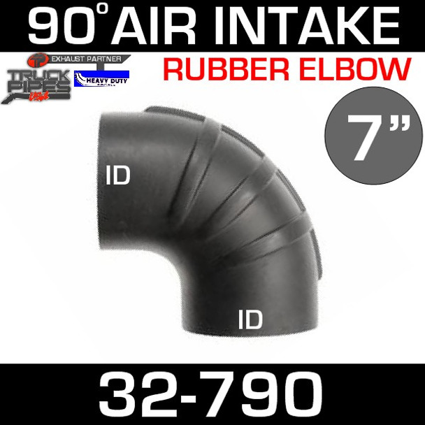 "7"" x 90 Degree Rubber Air-Intake Elbow 