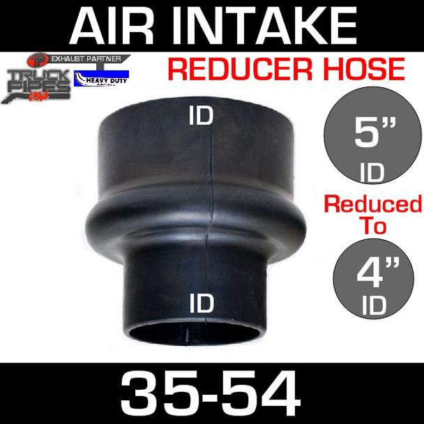 """5"""" to 4"""" Rubber Reducer Hose Air-Intake Exhaust 
