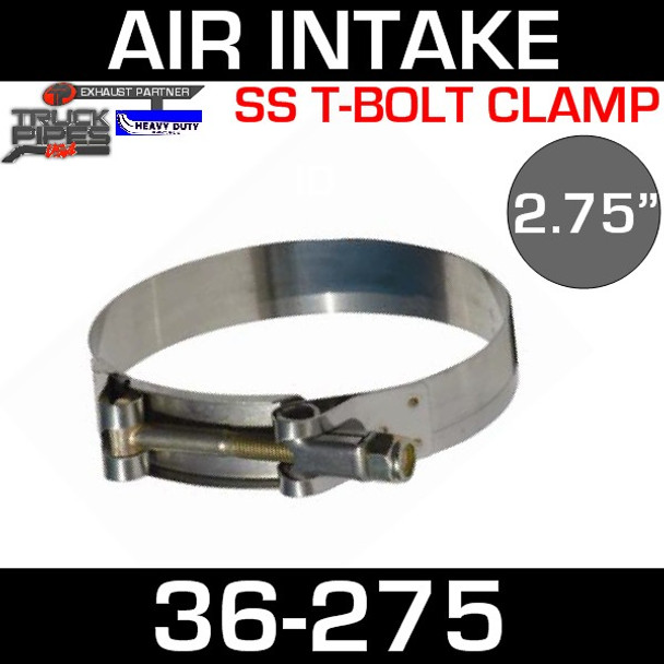 "2.75"" Air Inlet Clamp - T-Bolt Style 36-275"
