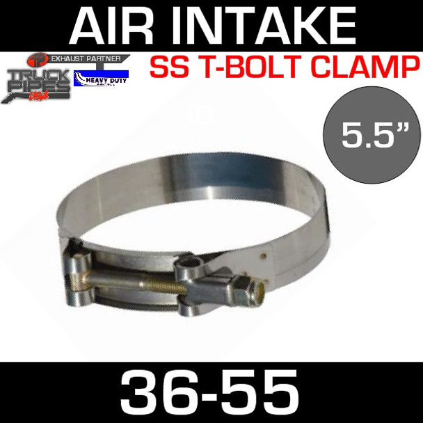 """5.5"""" Air Inlet Clamp - T-Bolt Style 36-55"""