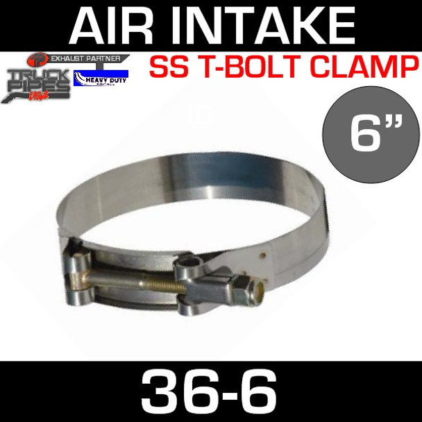 """6"""" Air Inlet Clamp - T-Bolt Style"""