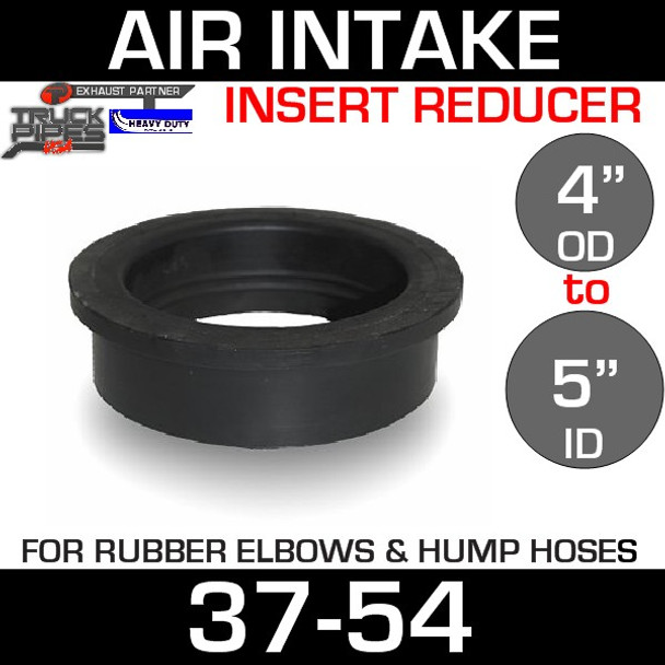 """5"""" ID to 4"""" Rubber Reducer Insert Sleeve OD"""