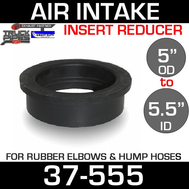 """5.5"""" ID to 5"""" Rubber Reducer Insert Sleeve OD 37-555"""