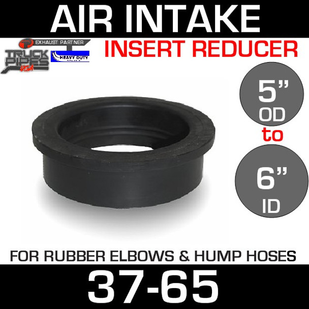 """6"""" ID to 5"""" Rubber Reducer Insert Sleeve OD 37-65"""