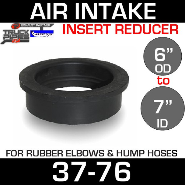 """7"""" ID to 6"""" Rubber Reducer Insert Sleeve OD"""
