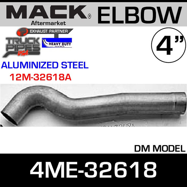 4ME-32618 Mack Aluminized Exhaust Elbow ALZ 12M-32618A