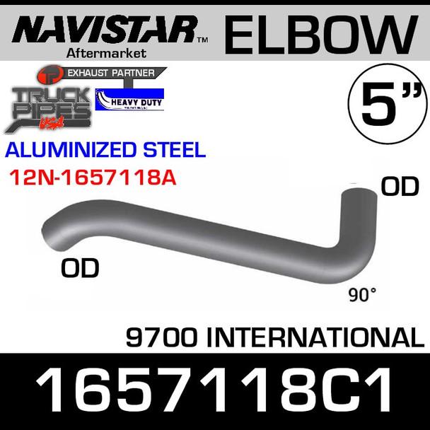 1657118C1 Navistar 9700 Inlet Exhaust Elbow ALZ 12N-1657118A