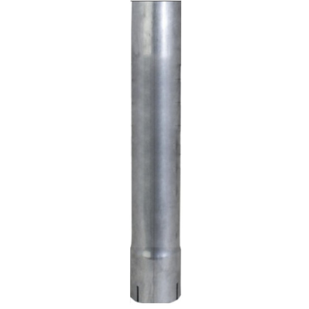 """3.5"""" x 24"""" Straight Cut Exhaust Pipe ID End Aluminized"""