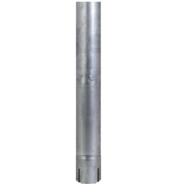 "4"" x 24"" Straight Cut Exhaust Pipe ID End Aluminized"