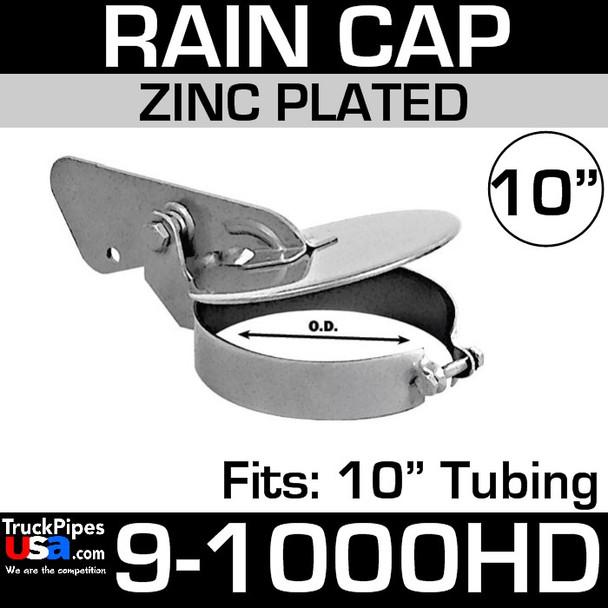 10 inch Heavy Duty Exhaust Rain Cap in Steel 9-1000HD