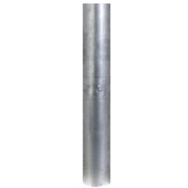 "3.5"" x 24"" Aluminized Straight Cut Stack Pipe OD Bottom SPO35824"