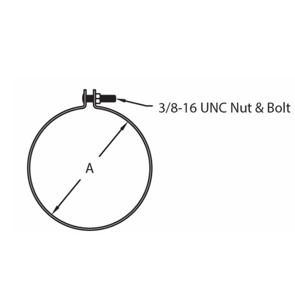 """9"""" Universal Mounting Ring without Stop Zinc Plated SP1791"""
