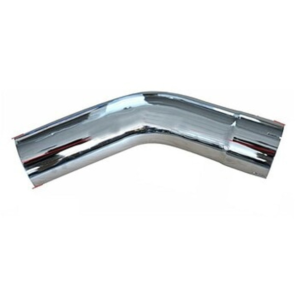 "30 Degree Exhaust Elbow 5"" x 4"" Legs ID-OD Chrome L50030PL"