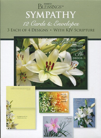 boxed Christian sympathy cards