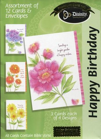 Feminine floral birthday cards