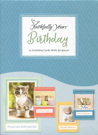boxed birthday cards featuring kittens