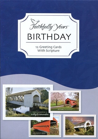 covered bridges birthday cards