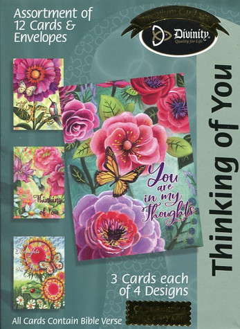 Greeting Cards with Flowers and Butterflies