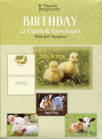 child birthday cards with baby animals