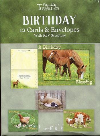 farmyard animals birthday cards