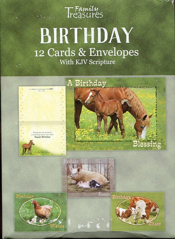 farmyard animals birthday cards