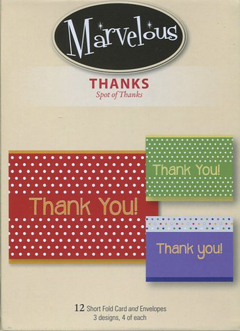 Spot of Thanks - Thank You Cards