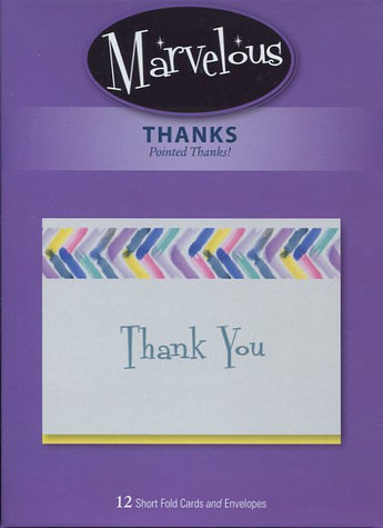Short-fold thank you cards