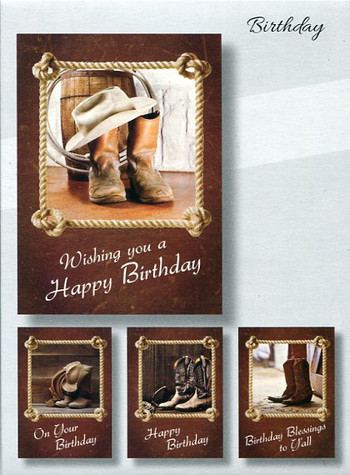 Western Theme Birthday Cards