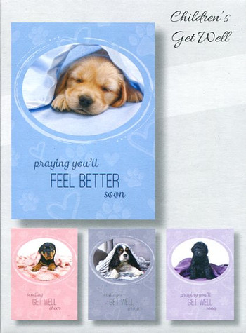 Puppy get well cards