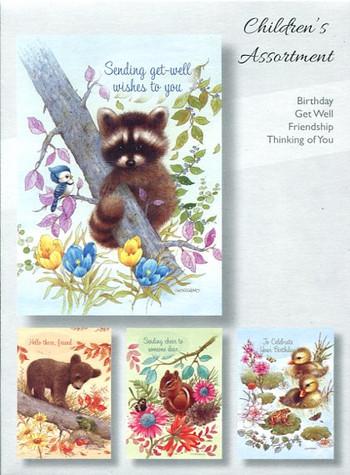 children assortment cards