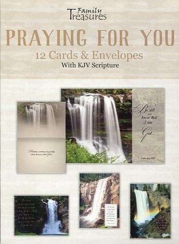 Waterfalls Christian prayer cards