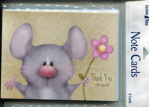 Mouse Thank You Notecards
