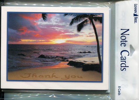 Sunset Thank You Notecards