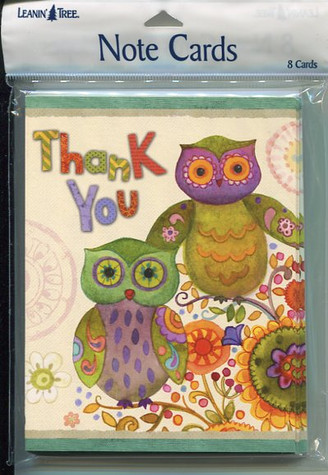 Owl Thank You Notecards