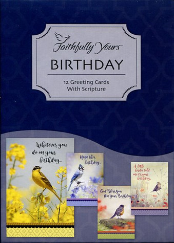 Birthday cards with birds