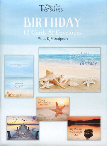 Coastal themed birthday cards