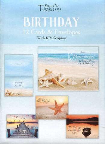 Coastal themed birthday cards