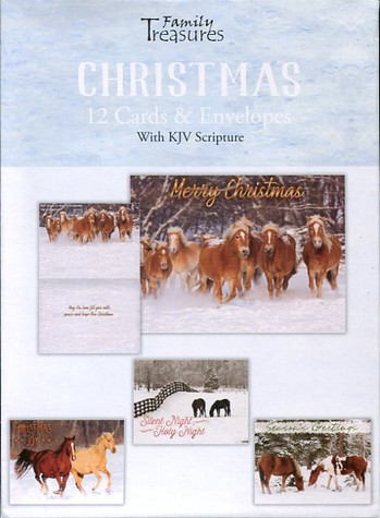 boxed Christmas cards - horses