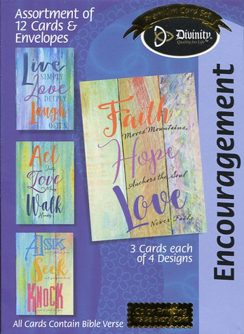 boxed encouragement cards